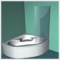 ... Shower Screens For Corner Baths
